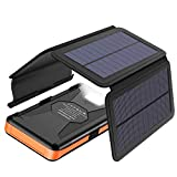 X-DRAGON Solar Powerbank 25000mAh Solarladegerät...