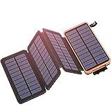 Hiluckey Solar Powerbank 25000mAh, Solar...