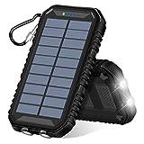 ADDTOP Solar Powerbank 15000mAh Tragbare Solar...