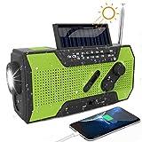Solar Radio, Kurbelradio AM/FM Wiederaufladbare...
