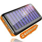 KEDRON Externer Akku 24000mAh Solar Powerbank,...