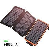 FEELLE Solar Ladegerät Powerbank 24000mAh...