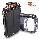 26800mAh Powerbank Solar IPX6 Externer Akku 3...