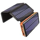Solar Ladegerät 25000mAh, Draussen Energiebank...