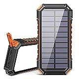 Riapow Solar Powerbank 26800mAh Tragbares Solar...