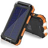 Suscell Solar PowerBank, 25,000mAh Solar...