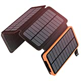 ADDTOP Solar Powerbank 25000mAh Tragbare Solar...