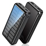 Powerbank Solar 30000mAh, Solar Ladegerät Outdoor...