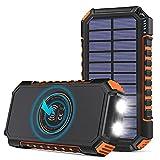Hiluckey Wireless Solar Powerbank 26800mAh...