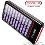 RLERON Powerbank Solar 25000mAh Tragbares...