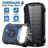 Powerbank Solar 26800mAh QI Wireless Solar...