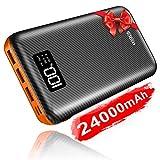 KEDRON Powerbank 24000mAh Externer Akku mit USB...