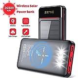 Aikove Wireless Powerbank 26800mAh Solar Externe...