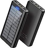 Solar Powerbank Handy 30000mAh - WBPINE Externer...