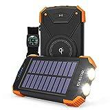 Wireless Power Bank Solar Ladegerät,10000mAh...
