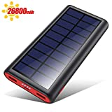 VOOE Solar Powerbank 26800mAh Externer Akku, Solar...