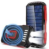 GRDE Solar Powerbank 25000mAh 2 LED...