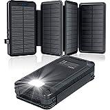 elzle Solar PowerBank 26800mAh, Solar Ladegerät...
