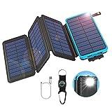 GOODaaa Solar Powerbank 25000mAh mit 4 Faltbar...
