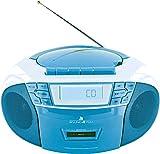 SCHWAIGER 661651- Tragbarer CD-Player mit Kassette...