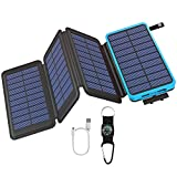 GOODaaa Solar Powerbank 25000mAh, Solar Power Bank...