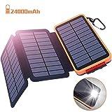 Powerbank Solar Externer Akku 24000mAh Solar...