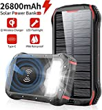 Solar PowerBank 26800mAh QI Wireless...