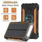 Sendowtek Solar Powerbank, 20000mAh Solar...