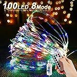 LED Kupferdraht Lichterkette, Nasharia 100LEDs...